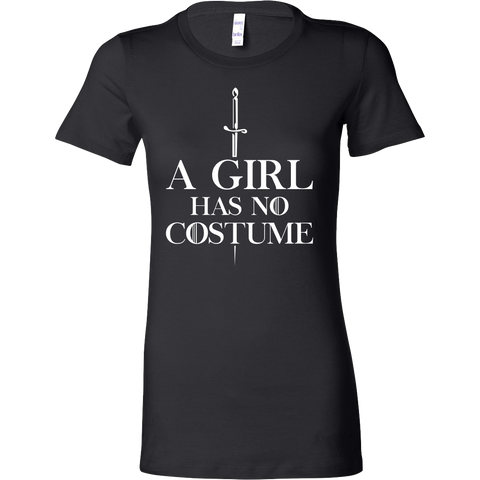 Halloween - A girl has no costume - Women Short Sleeve T shirt - TL00697WS