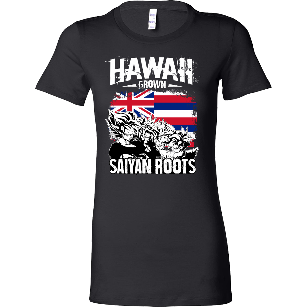 Super Saiyan Hawaii Grown Saiyan Roots Woman Short Sleeve T Shirt - TL00165WS