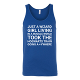 Harry Potter - just a wizard girl living in a muggle world - unisex tank top t shirt - TL00961TT