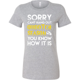 Harry Potter - Sorry cant hang out quiddtch season - Woman Short Sleeve T Shirt - TL00966WS