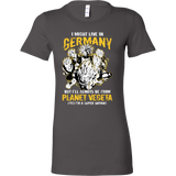 Super Saiyan I May Live In Germany Woman Short Sleeve T Shirt - TL00113WS