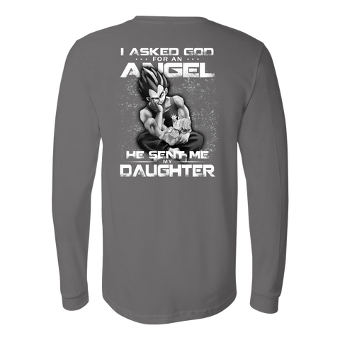 Super Saiyan - God sent me my daughter- Back - Unisex Long Sleeve T Shirt - TL01299LS