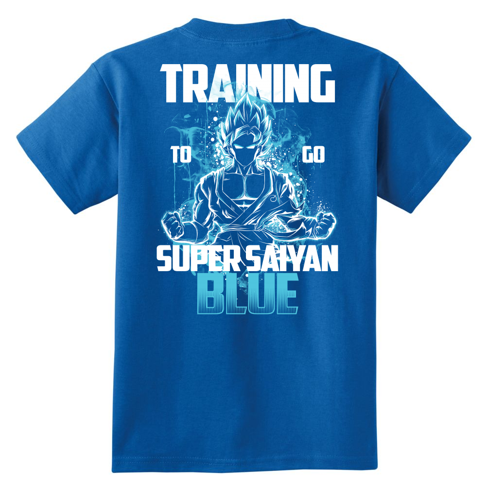 Super Saiyan - Goku Training to go Super Saiyan Blue - Youth Short Sleeve T Shirt - TL00889YS