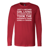 Harry Potter - just a wizard girl living in a muggle world - unisex long sleeve t shirt - TL00961LS