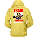 Super Saiyan Vegeta and Goku Gym Train Hard Unisex Hoodie T shirt - TL00442HO
