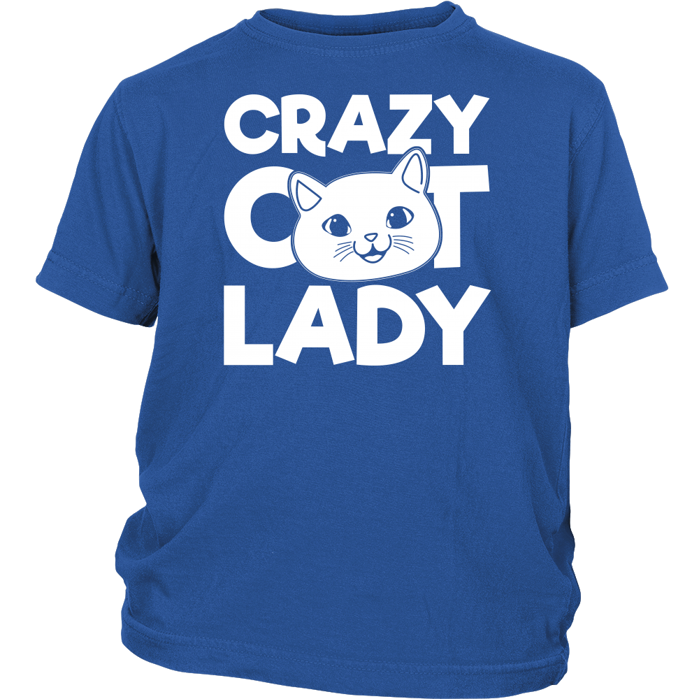 Pet - Crazy cat lady - Youth Kid T Shirt - TL00994YS