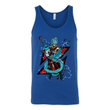 Super Saiyan Goku God Blue with shenron Unisex Tank Top T Shirt - TL00245TT
