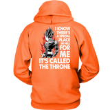 Super Saiyan Majin Vegeta Throne Unisex Hoodie T shirt - TL00213HO