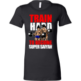 Super Saiyan Vegeta and Goku Gym Train Hard Woman Short Sleeve T Shirt - TL00442WS