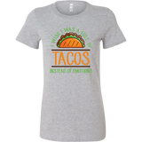 Taco mexican i wish i was a full of instead of emotions Woman Short Sleeve Funny T Shirt - TL00594WS
