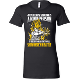 Super Saiyan Goku Show Mercy in Battle Woman Short Sleeve T shirt - TL00440WS