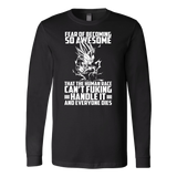 Super Saiyan Majin Vegeta Fear of Becoming so Awsome Long Sleeve T shirt - TL00451LS