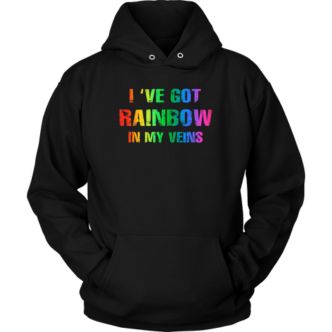 LGBT- I ve got rainbow in my veins -Unisex Hoodie - TL01296HO