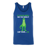 Dinosaur - If You're Happy And You Know It - Unisex Tank Top T Shirt - TL00859TT - The TShirt Collection