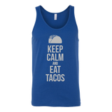 Taco mexican keep calm and eat tacos Unisex Tank Top Funny T Shirt -TL00597TT