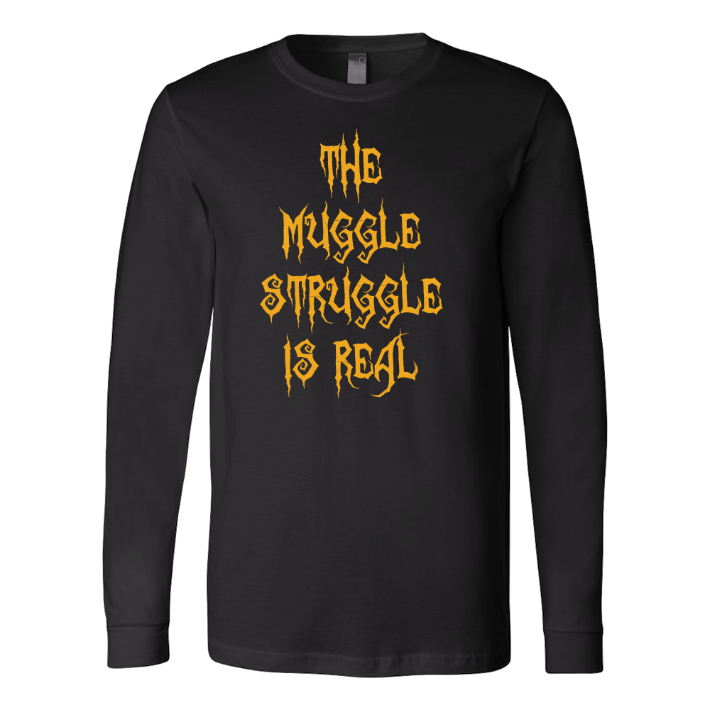 Halloween - The muggle struggle is real - Men Long Sleeve T Shirt - TL00727LS
