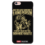 Super Saiyan Gohan Show Mercy in Battle iPhone 5, 5s, 6, 6s, 6 plus, 6s plus phone case - TL00446PC-BLACK