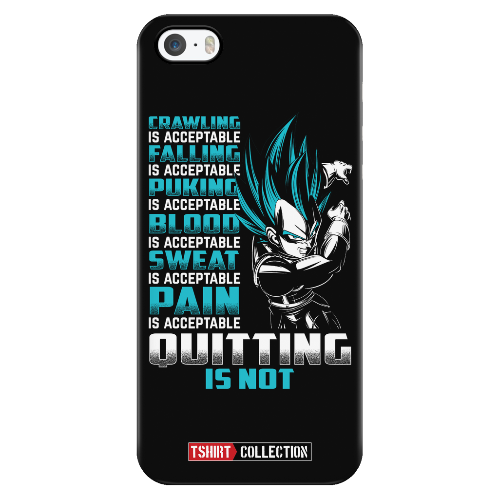Super Saiyan Vegeta Pain Is Acceptable Quitting Is Not Iphone Case - TL00560PC