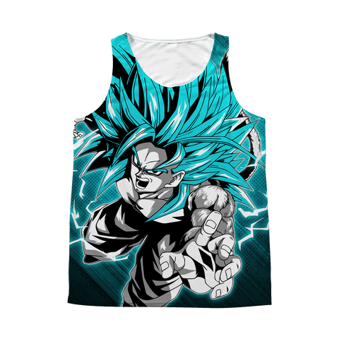 Super Saiyan - Goku SSj 5 - 1 Sided 3D tank top t shirt Tank - TL00938AT