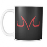Super Saiyan 11oz Coffee Mug - Red Majin Vegeta Buu Symbol - TL00049M1
