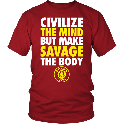 Super Saiyan -Civilize The Mind But Make Savage The Body -Men Short Sleeve T Shirt - TL01499SS
