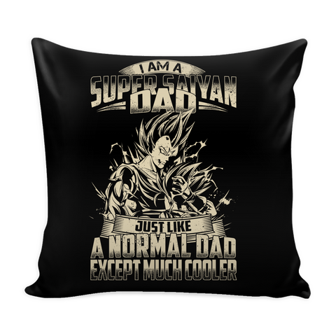 "Super Saiyan Vegeta and Trunks Dad Pillow Cover 16"" - TL00460PL"