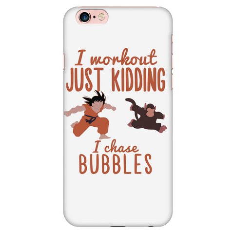 Super Saiyan - I wordout just kidding i chase bubbles - Iphone Phone Case - TL01347PC
