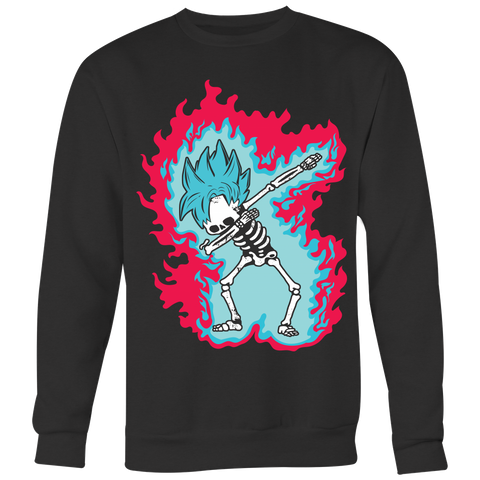 Super Saiyan - Goku God Dab Skeleton X Ray Costume - Unisex Sweatshirt - TL01419SW