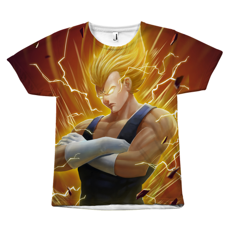 Super Saiyan - Vegeta SSJ 2 - All Over Print T Shirt - TL01277AO