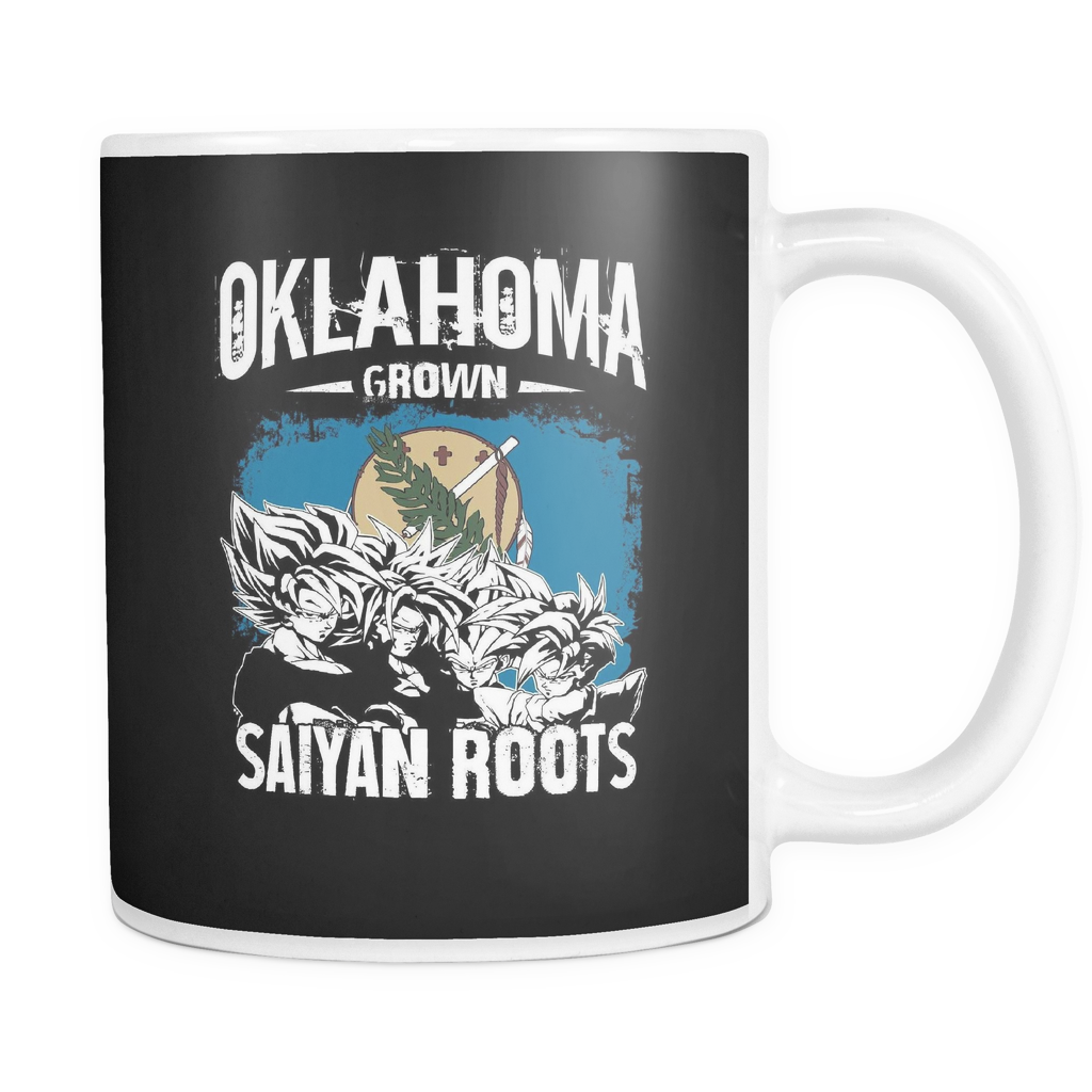 Super Saiyan Oklahoma Grown Saiyan Roots 11oz Coffee Mug - TL00153M1