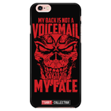Super Saiyan Majin Vegeta My Back is not a Voicemail iPhone 5, 5s, 6, 6s, 6 plus, 6s plus phone case - TL00435PC-BLACK
