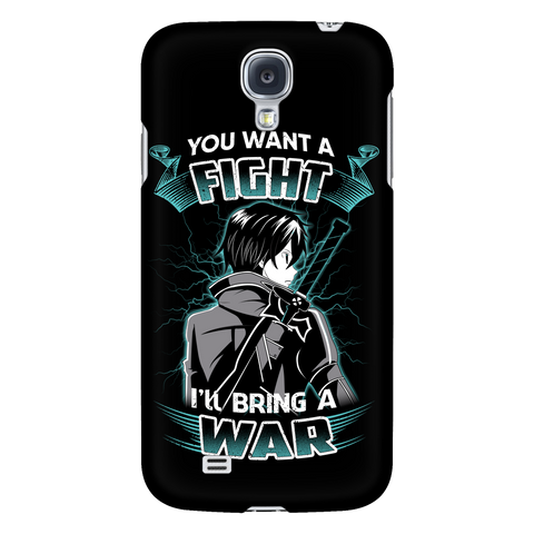 Sword art online - you want a fight i ll bring the war - Android Phone Case - TL01193AD