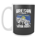 Super Saiyan OREGON Grown Saiyan Roots 15oz Coffee Mug - TL00168M5