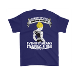 Super Saiyan - stand up for what you belive in -Men Short Sleeve T Shirt - TL01506SS-BACK