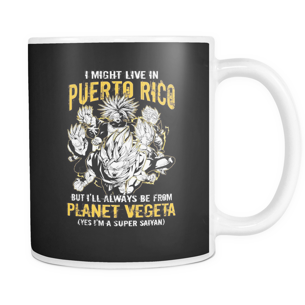 Super Saiyan I May Live in Puerto Rico 11oz Coffee Mug - TL00066M1