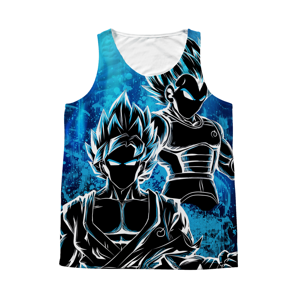 Super Saiyan - Goku and Vegeta SSj God Blue - 1 Sided 3D tank top t shirt Tank - TL00950AT