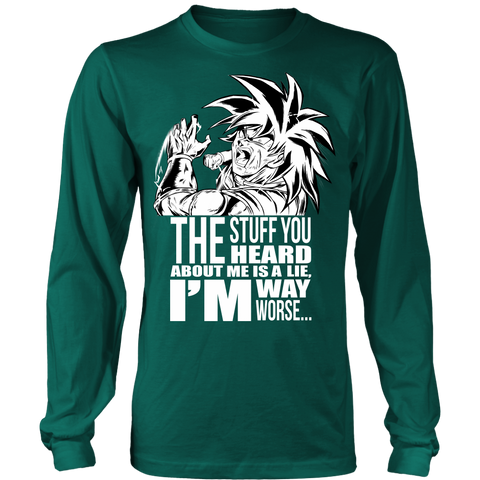 Super Saiyan Broly The stuff you heard about me is a lie i'm way worse - TL1702LS