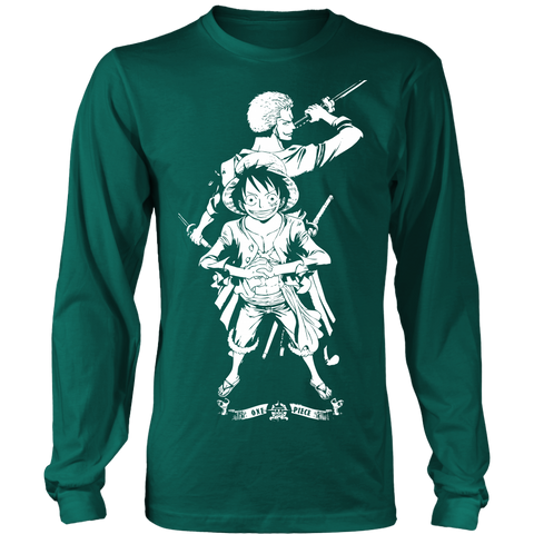 One Piece - ZORO and LUFFY - Unisex Long Sleeve T Shirt - TL01992LS