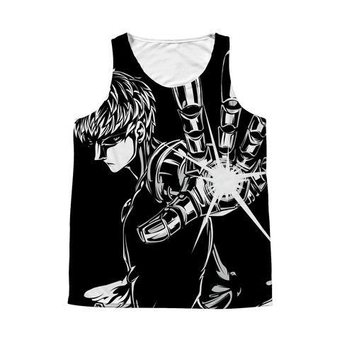 One Punch Man - Genos Hero - 1 Sided 3D tank top t shirt Tank - TL00924AT
