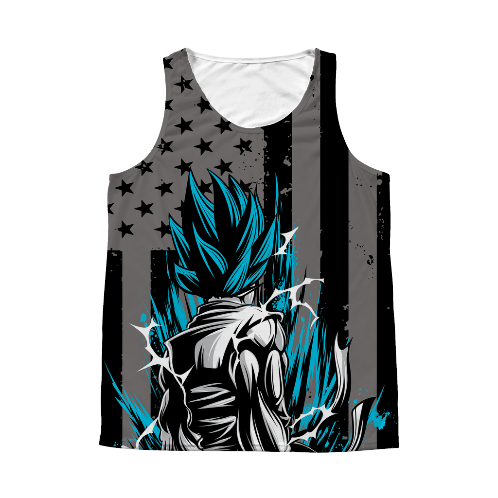 Super Saiyan Goku 1 Sided 3D tank top t shirt Tank- TL00416AT