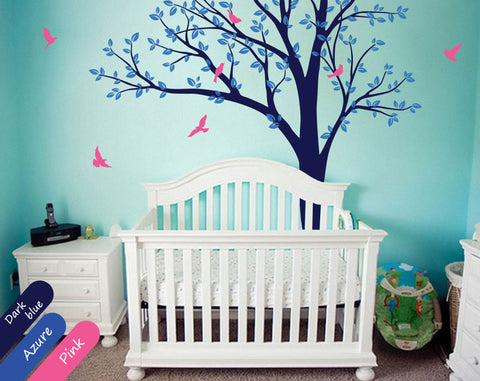 nursery birds tree wall decal - Wall Decals Designs