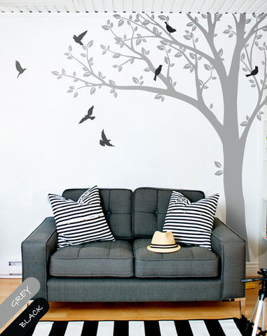 Tree Branch Birds Vinyl Decal Wall Sticker