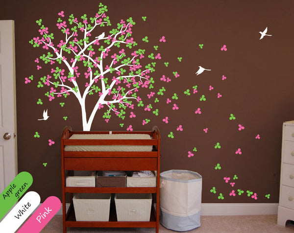White blossom tree wall sticker