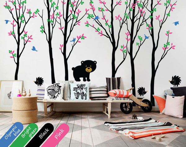 Blossom Black Birch Tree Birds Wall sticker