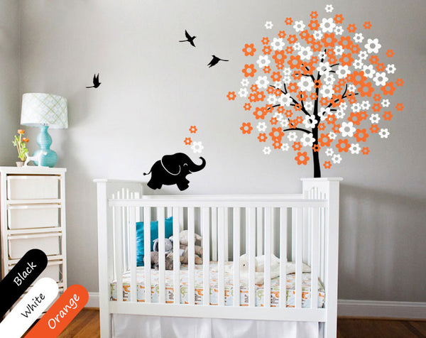Blossoms Tree Birds Nursery Wall Sticker