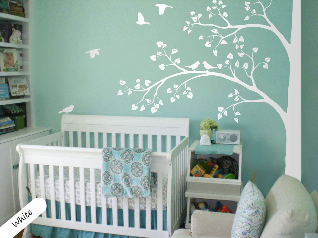White Tree Birds NurseryWall Decal