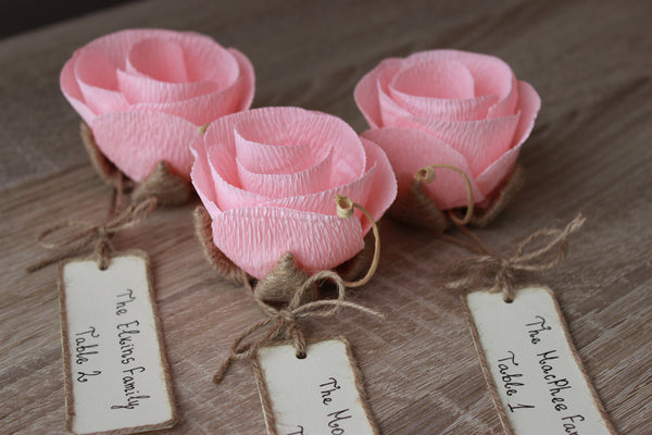 Rustic elegant unique name place card holders with name cards