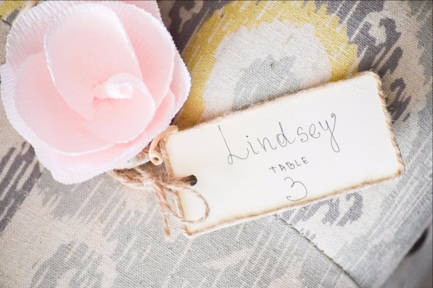 Wedding Flower Name Place Card Holders With Tags Seating Cards