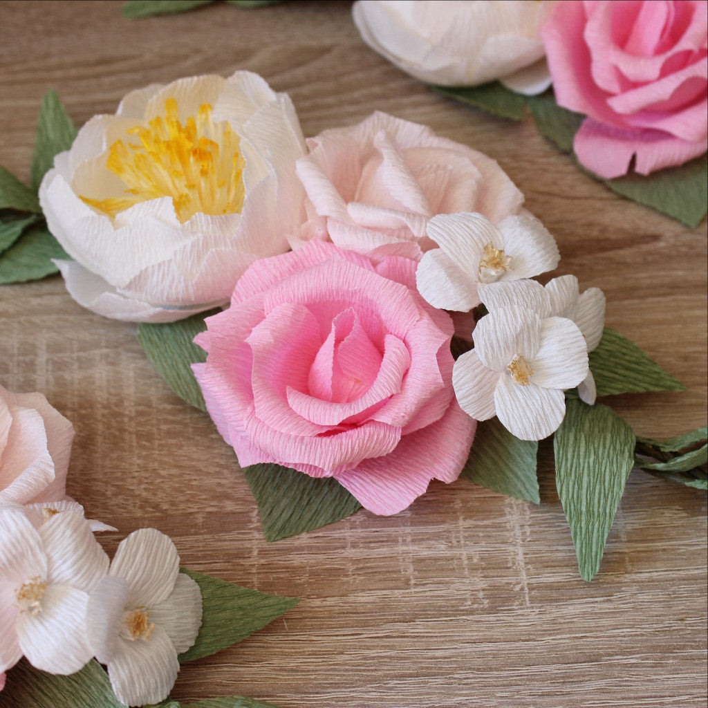 how to make garland with jasmine flowers