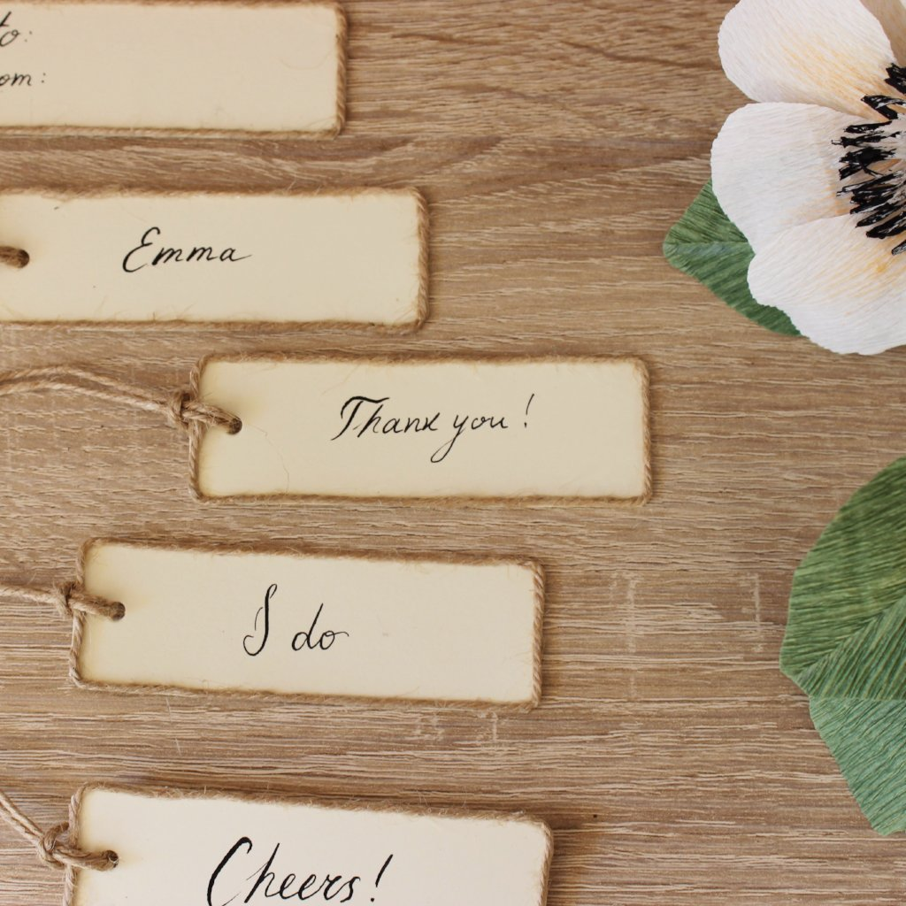 Attractive Rustic wedding, party, dinner place name tag, favor tag, gift tag  QA89